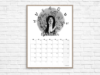 Kalender November // Illustration © fieberherz.de
