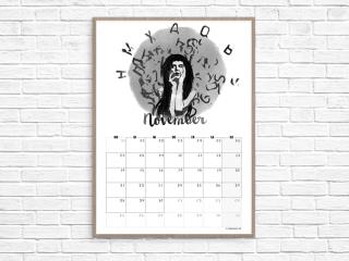 Kalender November // Illustration © fieberherz.de