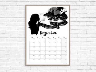 Kalenderblatt Dezember // Illustration © fieberherz.de